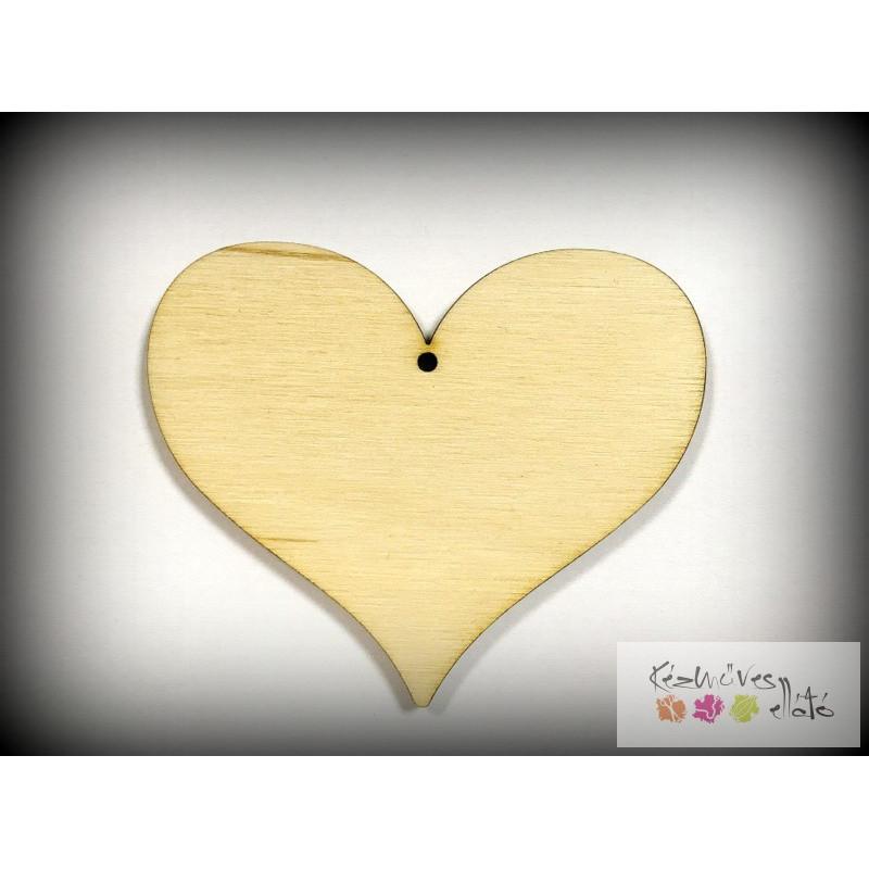 Natúr fa szív, öblösebb, nagy