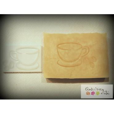 Kávés pecsét 6x4cm - csésze+bab