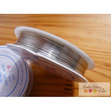 Ékszer drót 0,6mm - ezüst szín 6,5 m