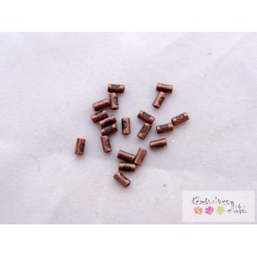 Vörös bronz pici cső köztes, nikkelmentes 20db/cs