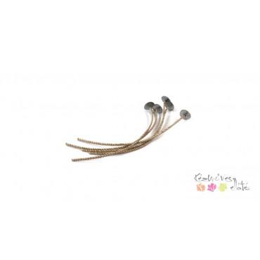 Gyertyakanóc talpas 15cm 5db/cs