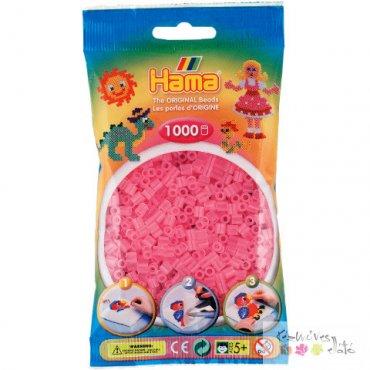 Vasalható gyöngy 1000db - áttetsző rózsaszín
