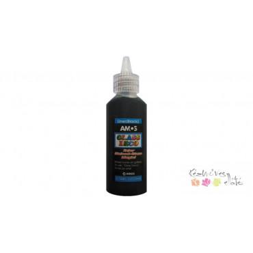 Amos üvegmatrica festék kontúr 22ml - fekete
